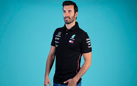 Playera Polo F1 negra